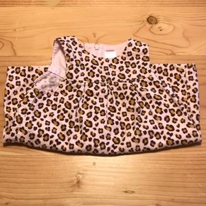 Gymboree pink w/ cheetah print corduroy dress